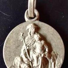 Antigüedades: MEDALLA DIVINA PASTORA EN PLATA DE LEY MACIZA - 16MM. Lote 62118143
