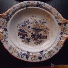 Antigüedades: RARISIMA CERAMICA FUENTE FRUTERO 1862 PICKMAN Y Cª MEDALLA EXPOSICIONES LONDRES CHINA OPACA SEVILLA. Lote 53723375