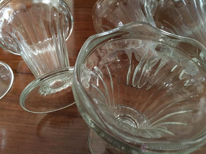 ANTIGUAS COPAS DE CRISTAL GRUESO PARA SERVIR HELADO (Antigüedades - Cristal y Vidrio - Otros)