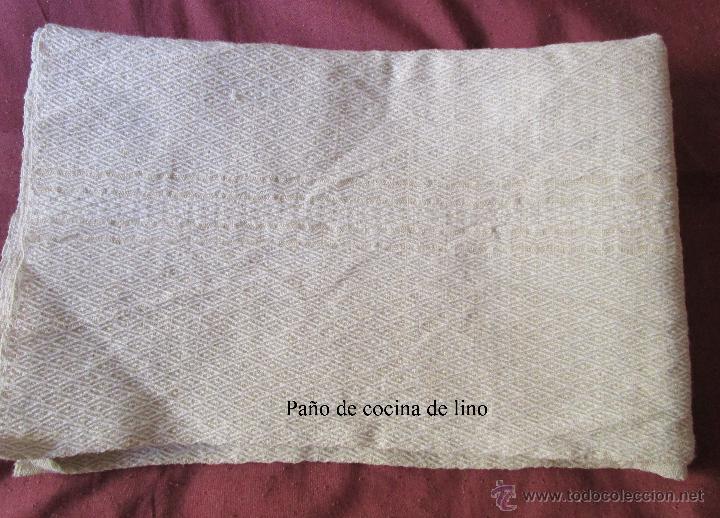 Paño De Cocina | Antiguo Pano De Cocina De Lino Mecanico Sin U Comprar En