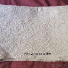 Antigüedades: ANTIGUO PAÑO DE COCINA DE LINO, MECÁNICO. SIN USO PRIMER TERCIO S.XX. 62 X 75 CM.. Lote 53726203