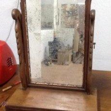 Antigüedades: TOCADOR CON ESPEJO BASCULANTE FERNANDINO, DE SOBREMESA.. Lote 53726247