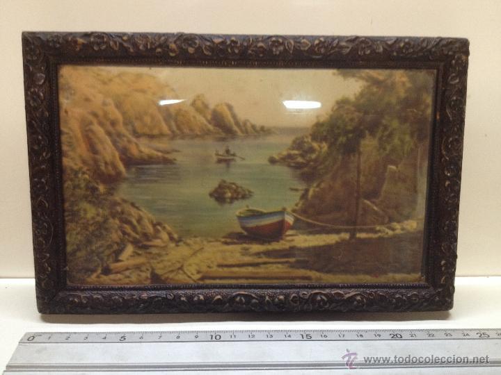 antiguo marco en relieve con litografia 24 x 16 - Comprar Marcos ...