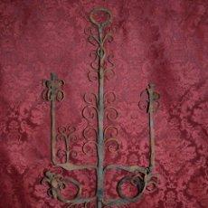 Antigüedades - EXCEPCIONAL CANDIL EN HIERRO DE FRAGUA,FORJA,ESPAÑA S. XVIII - 53732661