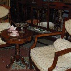 Antigüedades: PRECIOSA PAREJA DE BUTACAS MODERNISTAS CON MARQUETERÍA. Lote 53742880