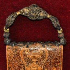 Antigüedades: RAMÓN TEIXÉ BOLDÚ (BARCELONA, 1873 - 1926) BOLSO EN PIEL FABRICADO POR EL ARTISTA. Lote 53748026