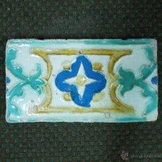 Antigüedades: ANTIGUO AZULEJO DE CENEFA S XVI- XVII. Lote 53751008