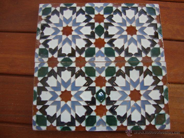 PAREJA DE AZULEJOS RAMOS REJANO (Antigüedades - Porcelanas y Cerámicas - Azulejos)