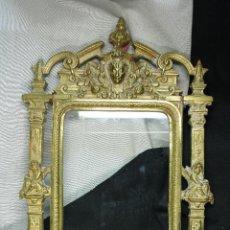 Antigüedades: MARCO BRONCE IMPERIO. PORTARRETRATOS. S.XIX. Lote 53763307