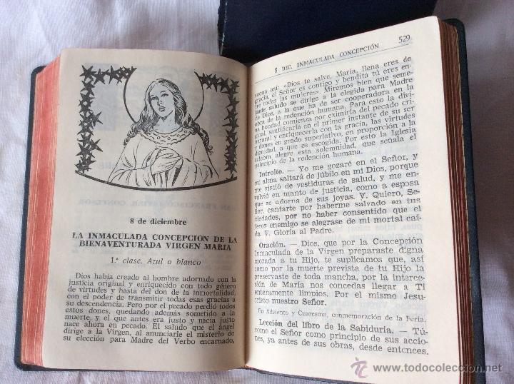 Antigüedades: Misalito-devocionario Nacar-colunga. Compuesto por un equipo de liturgistas a base de textos - Foto 3 - 53766471