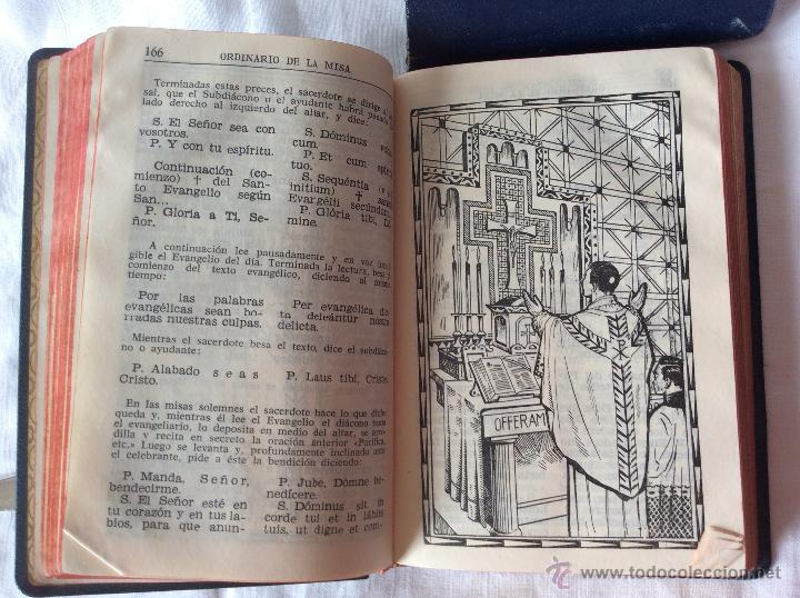 Antigüedades: Misalito-devocionario Nacar-colunga. Compuesto por un equipo de liturgistas a base de textos - Foto 6 - 53766471