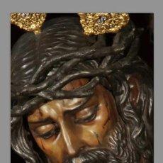 Antigüedades: BONITO AZULEJO 20X30 DEL CRISTO DE LOS GITANOS DE SEVILLA. Lote 53766747