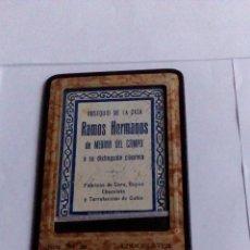 Antigüedades: PORTAFOTOS ANTIGUO CON PUBLICIDAD CHOCOLATES NTRA. SRA. DE LAS CANDELAS OBSEQUIO DE RAMOS HERMANOS. Lote 53773799