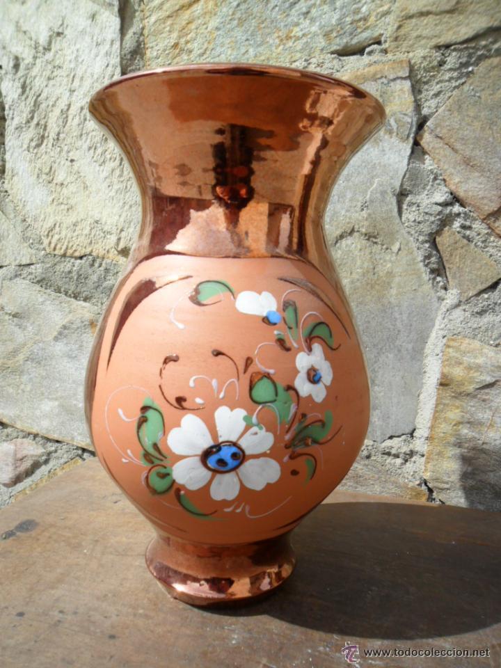 Jarr n en barro vitrificado decorado a mano comprar for Decoracion hogar jarrones