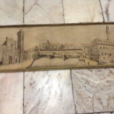 Antigüedades: TAPIZ MUY ANTIGUO IMAGEN FLORENCIA. Lote 53799837