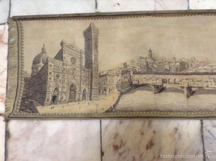 Antigüedades: Tapiz muy antiguo imagen Florencia - Foto 2 - 53799837