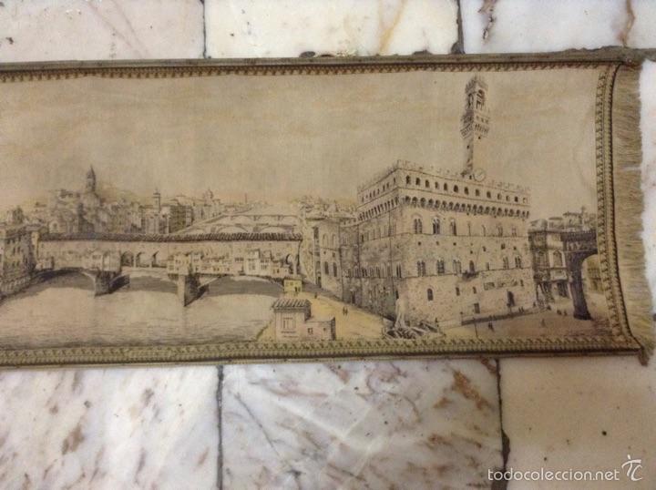 Antigüedades: Tapiz muy antiguo imagen Florencia - Foto 3 - 53799837