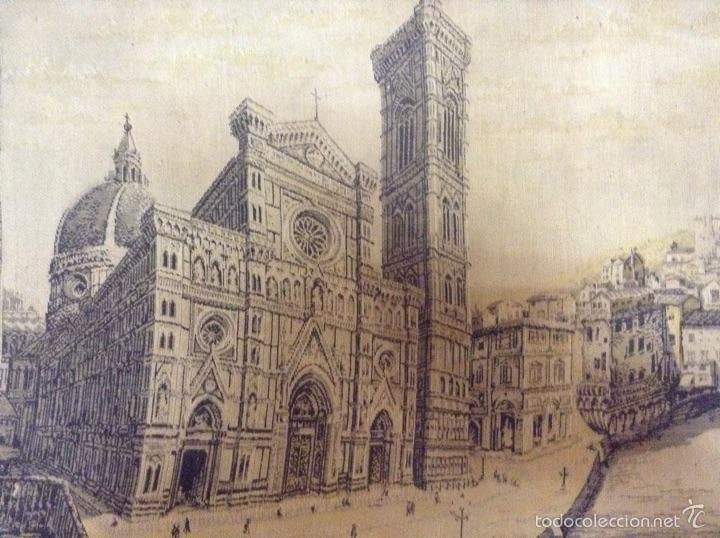 Antigüedades: Tapiz muy antiguo imagen Florencia - Foto 4 - 53799837