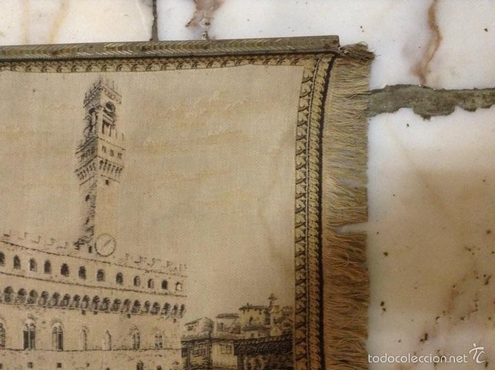 Antigüedades: Tapiz muy antiguo imagen Florencia - Foto 5 - 53799837