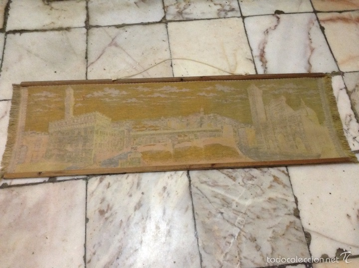 Antigüedades: Tapiz muy antiguo imagen Florencia - Foto 6 - 53799837