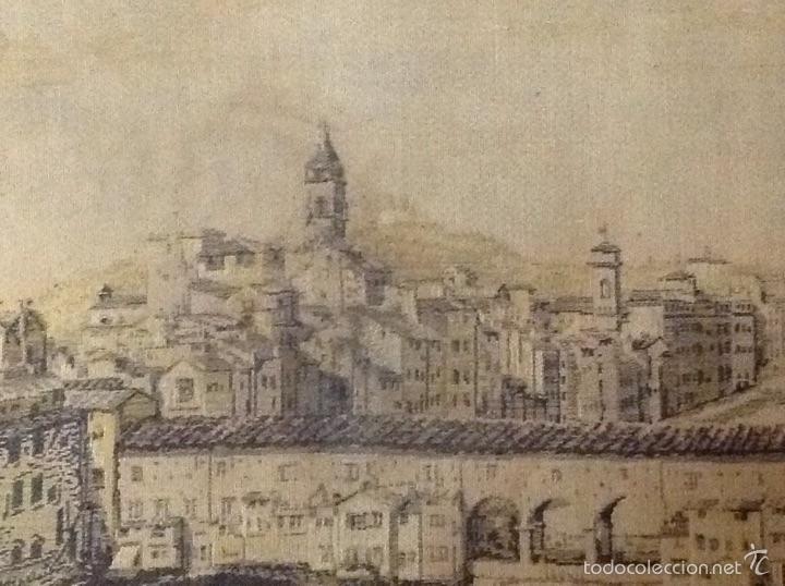 Antigüedades: Tapiz muy antiguo imagen Florencia - Foto 7 - 53799837
