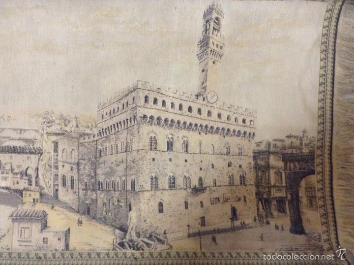 Antigüedades: Tapiz muy antiguo imagen Florencia - Foto 8 - 53799837