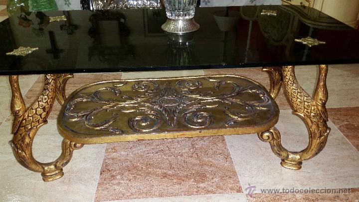 Mesa de centro en bronce comprar mesas antiguas en for Mesas de centro antiguas