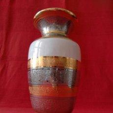 Antigüedades: JARRÓN DE MARCA BOHEMIA CON BAÑO DE PLATA Y ORO DE LEY.. Lote 53806253