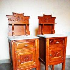 Antigüedades: MESILLAS DE CAOBA MODERNISTAS COMPLETAMENTE RESTAURADAS. Lote 53807445