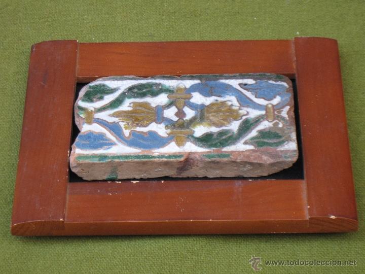 Antigüedades: AZULEJO ANTIGUO DE TOLEDO - SIGLO XVI - MUDEJAR / RENACENTISTA - ARISTA O CUENCA - - Foto 4 - 53814768