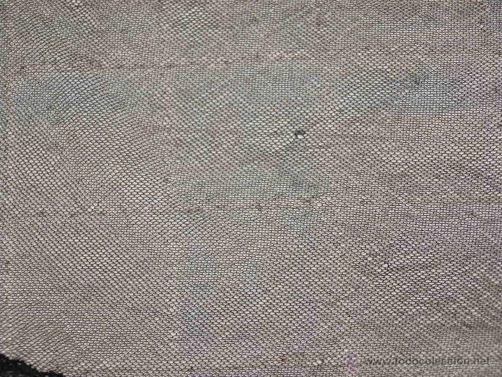 Antigüedades: MANTILLA SEMI OVALADA, TIPO TRES PICOS. 107 CM X 34 CM APROX. VER FOTOS Y DESCRIPCION. - Foto 12 - 53818653