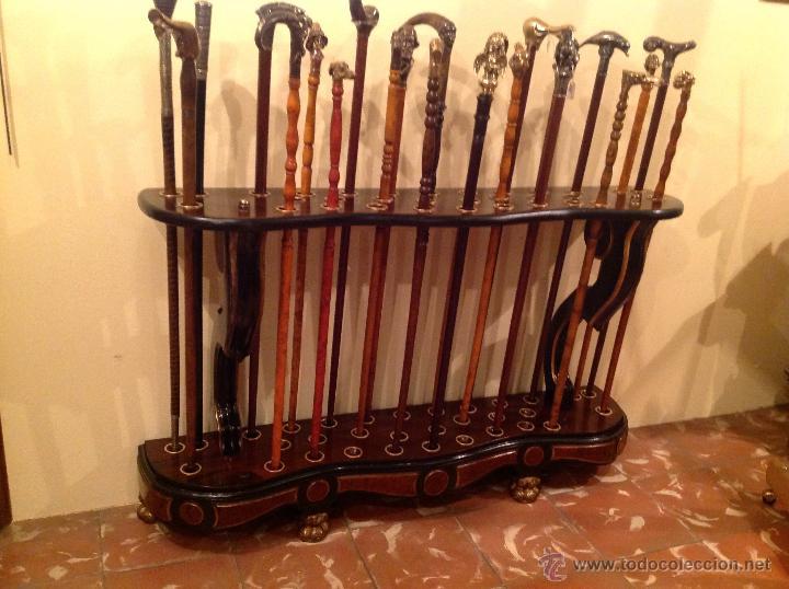 Antigüedades: Bastonera Original Pieza De Colección Impresionante Medidas 117x73cm - Foto 9 - 53820990