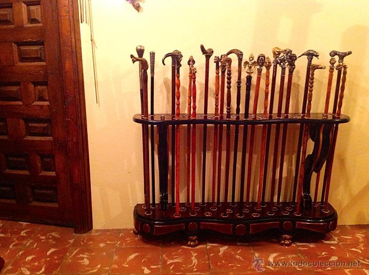 Antigüedades: Bastonera Original Pieza De Colección Impresionante Medidas 117x73cm - Foto 10 - 53820990