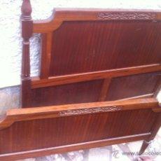 Antigüedades: CAMA DE MADERA. Lote 53821525