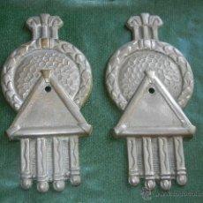 Antigüedades: PAREJA DE APLIQUES CORTINAJES ART-DECO ORIGINALES. Lote 53822226