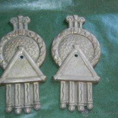 Antigüedades: PAREJA DE APLIQUES CORTINAJES ART-DECO ORIGINALES. Lote 53822257