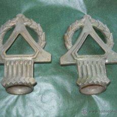 Antigüedades: PAREJA DE APLIQUES CORTINAJES ART-DECO ORIGINALES. Lote 53822357