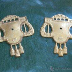 Antigüedades: PAREJA DE APLIQUES CORTINAJES ART-DECO ORIGINALES. Lote 53822612