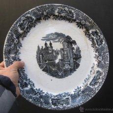 Antigüedades: GRAN PLATO FUENTE BANDEJA ANTIGUA 1869-1899 CARTUJA PICKMAN SEVILLA . Lote 135858885