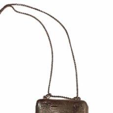 Antigüedades: ANTIGUA POLVERA MONEDERO DE ALPACA CON BONITO CINCELADO- S.XIX. Lote 48827774