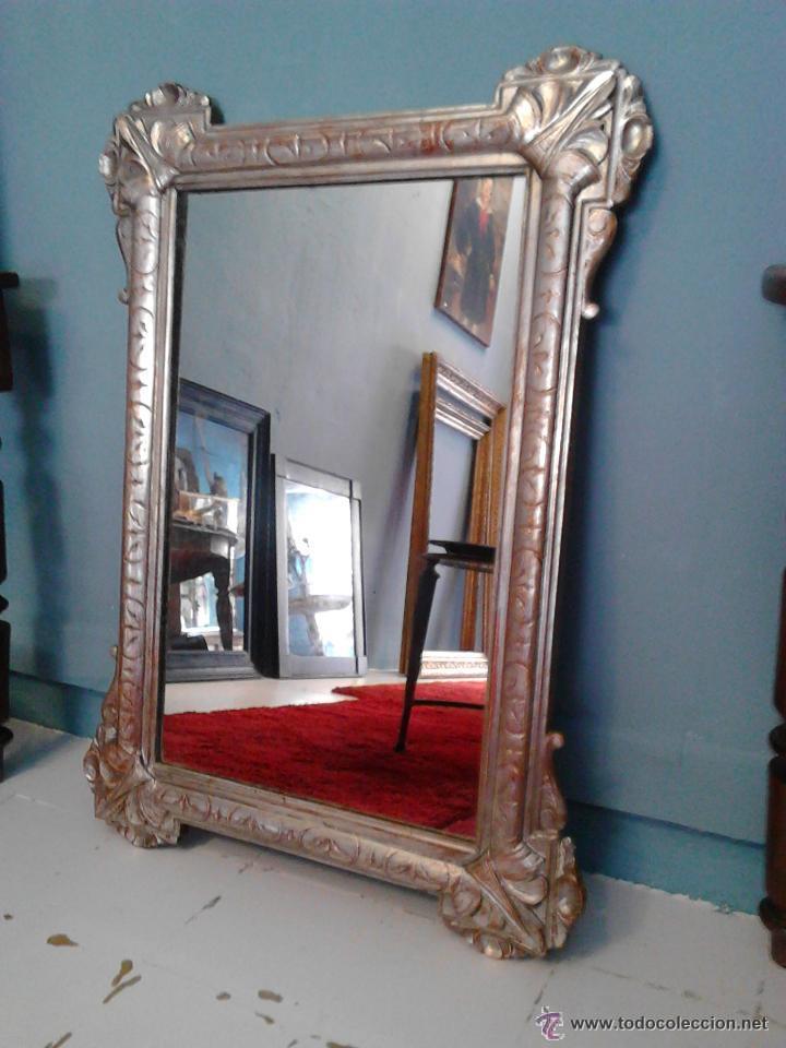 espejo plateado poca romtica antigedades muebles antiguos espejos antiguos - Espejos Plateados