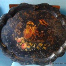 Antigüedades: BANDEJA PINTADA DEL SIGLO XIX. Lote 53840999
