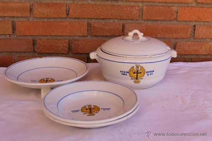 VAJILLA DEL REGIMIENTO DE INFANTERIA TETUAN Nº14 (Antigüedades - Porcelanas y Cerámicas - Otras)