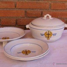 Antigüedades: VAJILLA DEL REGIMIENTO DE INFANTERIA TETUAN Nº14. Lote 53842023