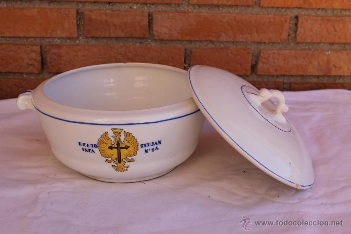 Antigüedades: VAJILLA DEL REGIMIENTO DE INFANTERIA TETUAN Nº14 - Foto 3 - 53842023