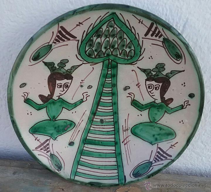 ALFARERÍA DE TERUEL, PLATO DE PUNTER. (Antigüedades - Porcelanas y Cerámicas - Teruel)