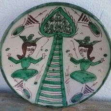 Antigüedades: ALFARERÍA DE TERUEL, PLATO DE PUNTER.. Lote 53844175