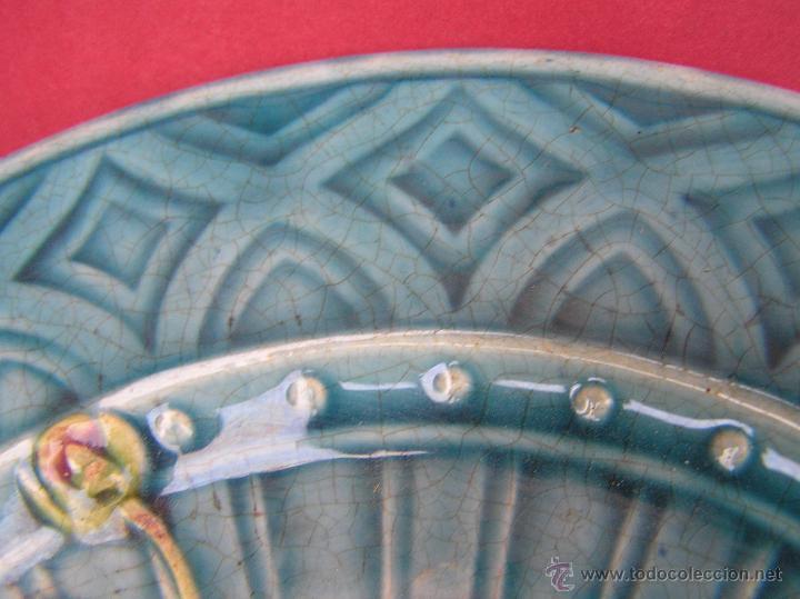 Antigüedades: PLATO POSTRE SARREGUEMINES . S. XIX (1865-1880 ) Sellado en base.20 cm Diámetro. - Foto 5 - 53845368