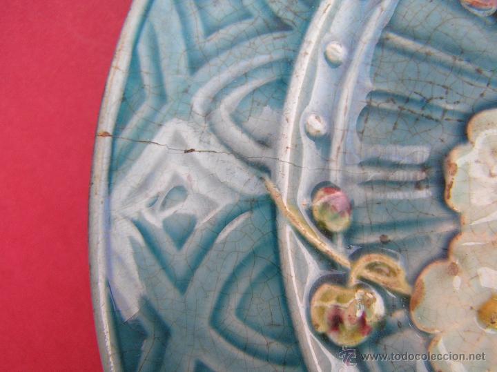Antigüedades: PLATO POSTRE SARREGUEMINES . S. XIX (1865-1880 ) Sellado en base.20 cm Diámetro. - Foto 9 - 53845368