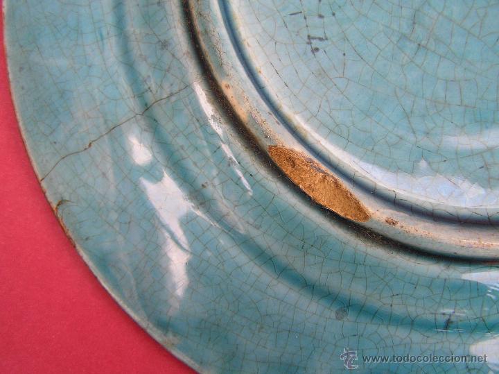 Antigüedades: PLATO POSTRE SARREGUEMINES . S. XIX (1865-1880 ) Sellado en base.20 cm Diámetro. - Foto 15 - 53845368